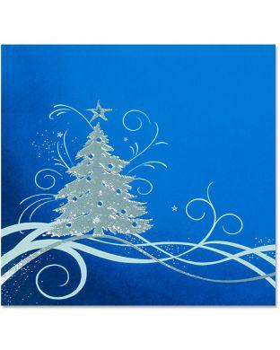 Joulukortti Säkenöivä kuusi