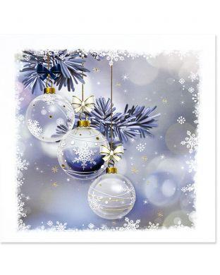 Joulukortti Joulupallot