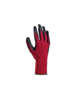 Puutarhakäsine Grip punainen/musta koko 8