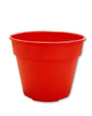 Muoviruukku punainen