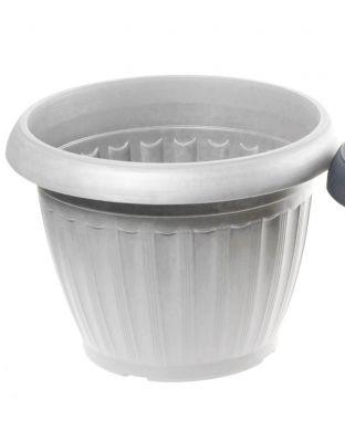 Muoviruukku valkoinen