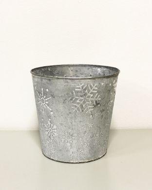 Lumihiutale-ruukku hopea