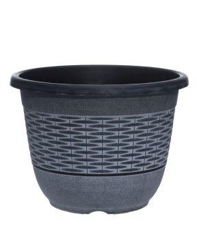 Muoviruukku punos harmaa 40,5 cm