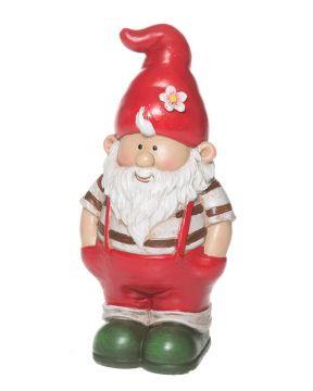 Puutarhatonttu mini punaisella hatulla