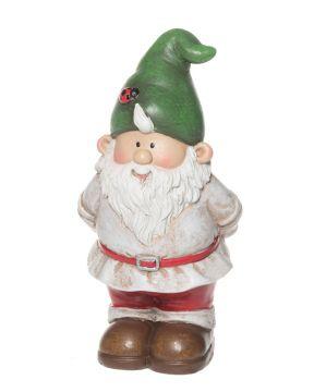 Puutarhatonttu mini vihreällä hatulla