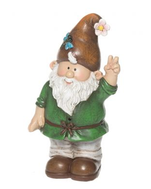 Puutarhatonttu mini ruskealla hatulla