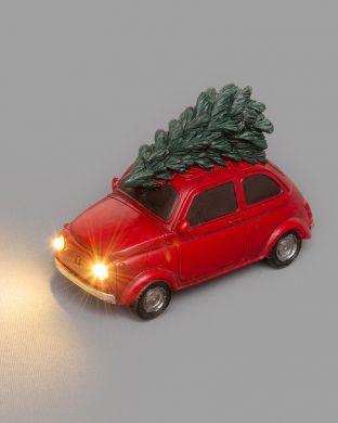 Miniauto led-valoilla