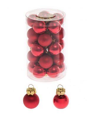 Minikuusenpallo punainen