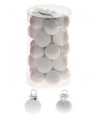 Minikuusenpallo valkoinen