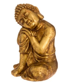 Buddha istuva kultainen