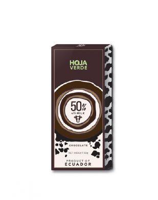 Hoja Verde 50 % tumma maitosuklaa 50 g