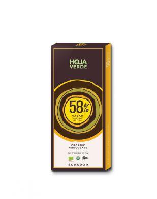 Hoja Verde 58 % tumma suklaa 50 g luomu
