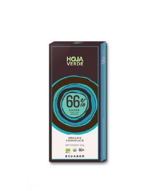 Hoja Verde 66 % tumma suklaa 50 g luomu