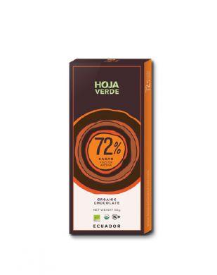 Hoja Verde 72 % tumma suklaa 50 g luomu