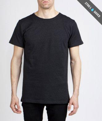 Miesten antrasiitin-harmaa t-paita koko L