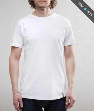 Miesten valkoinen t-paita koko L