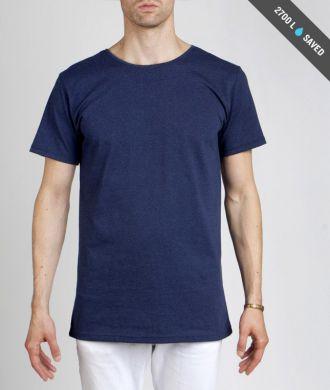 Miesten sininen t-paita koko L
