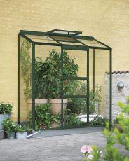Kasvihuone Halls Altan 1,3 m2 vihreä runko, lasilla
